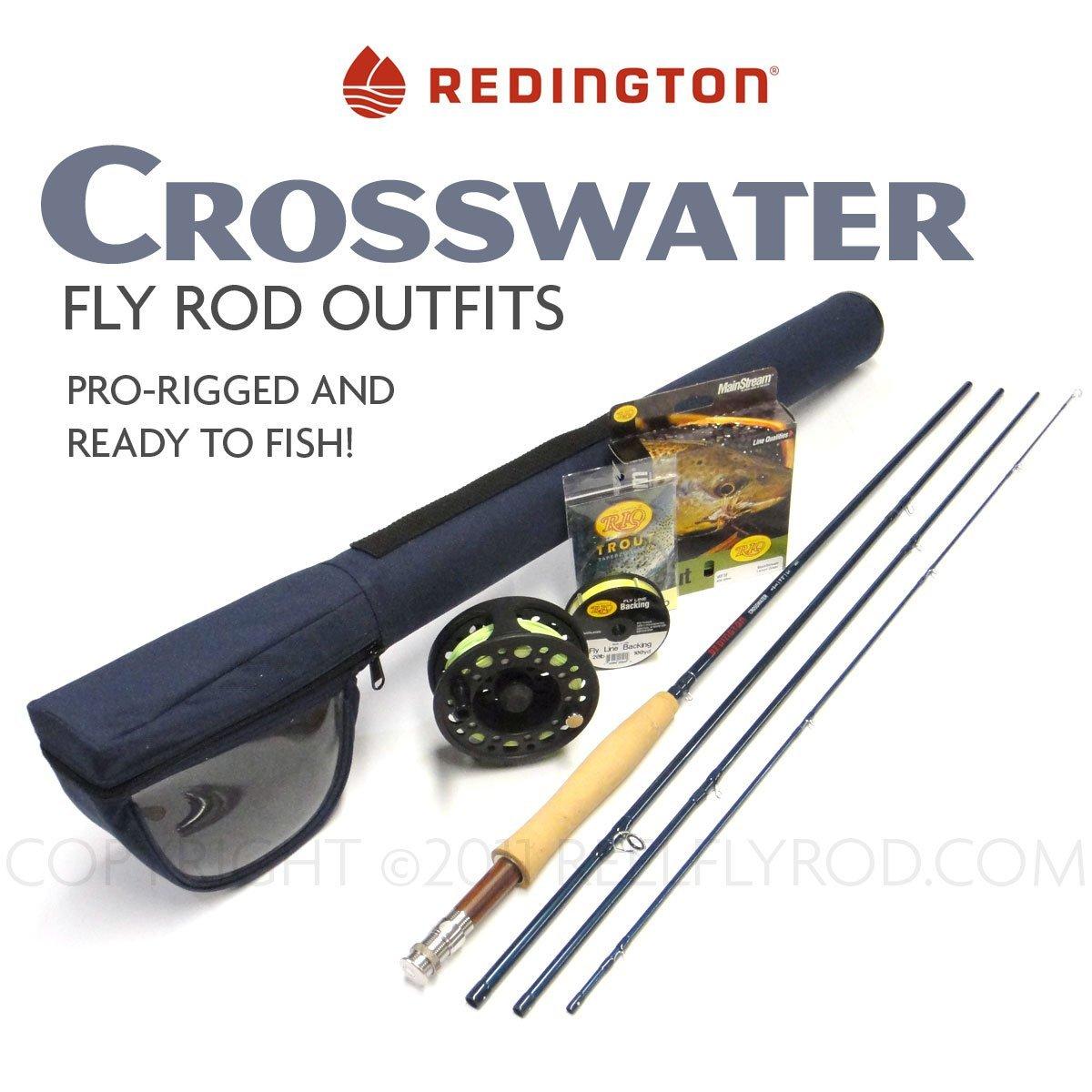 Redington crosswater complete fly rod and reel for Beginner fly fishing kit