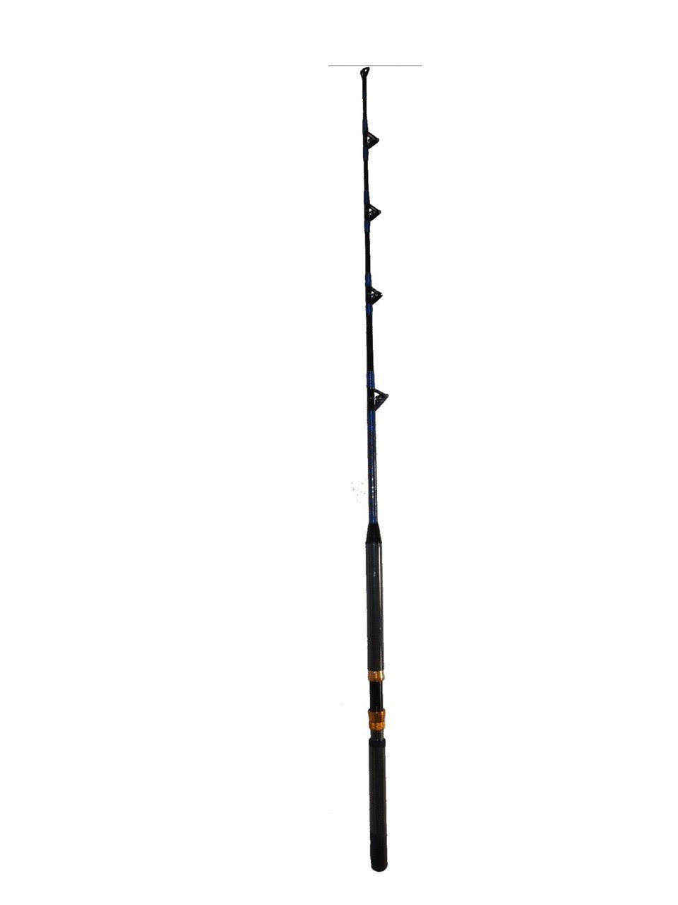 Saltwater fishing rod fishing pole 50 80 lb all roller for Fishing pole guides