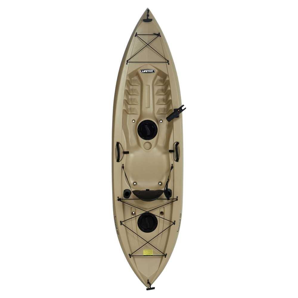 Lifetime tamarack sit on top kayak tan 120 fishingnew for Tamarack fishing kayak