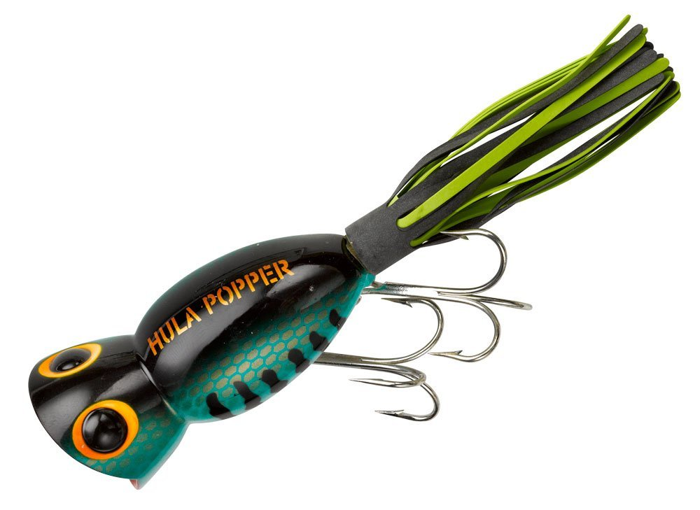 Arbogast hula popper fishing lure fishingnew for Fly fishing bait