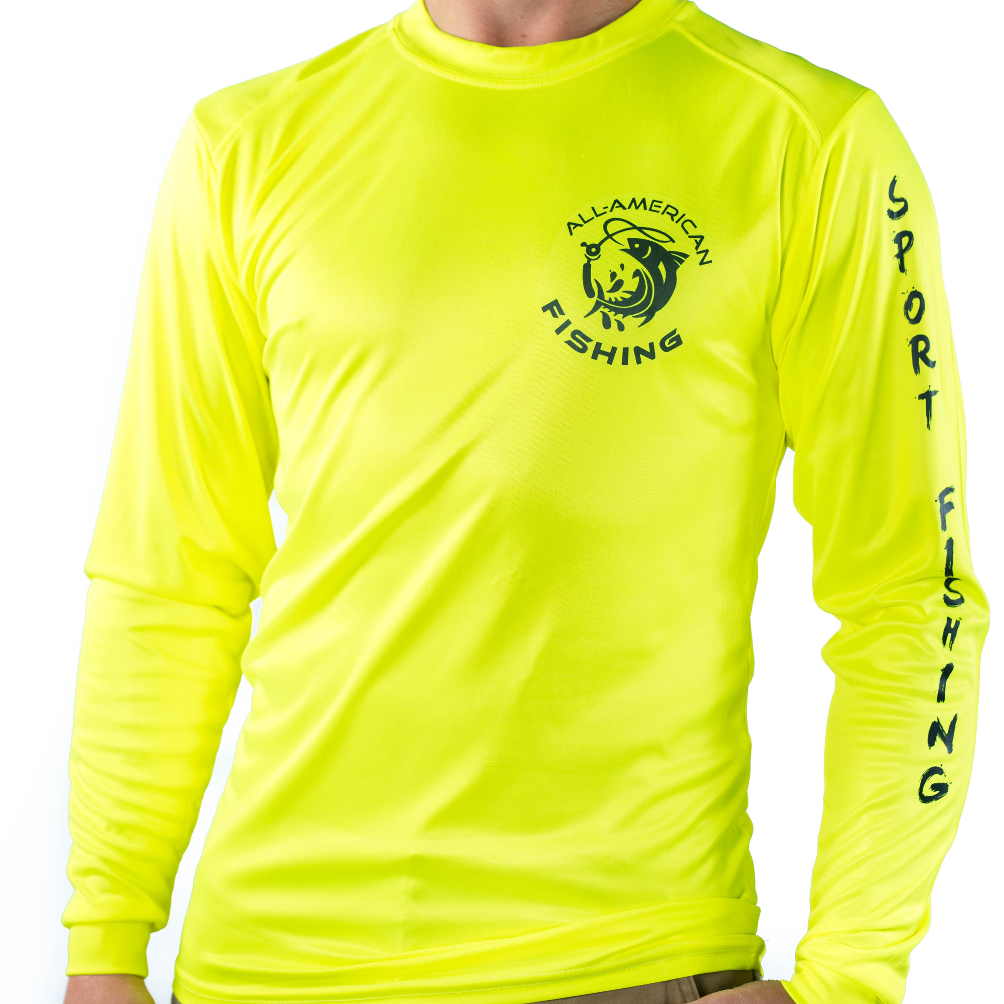 All american fishing performance dri fit upf fishing shirt for Custom dri fit t shirts