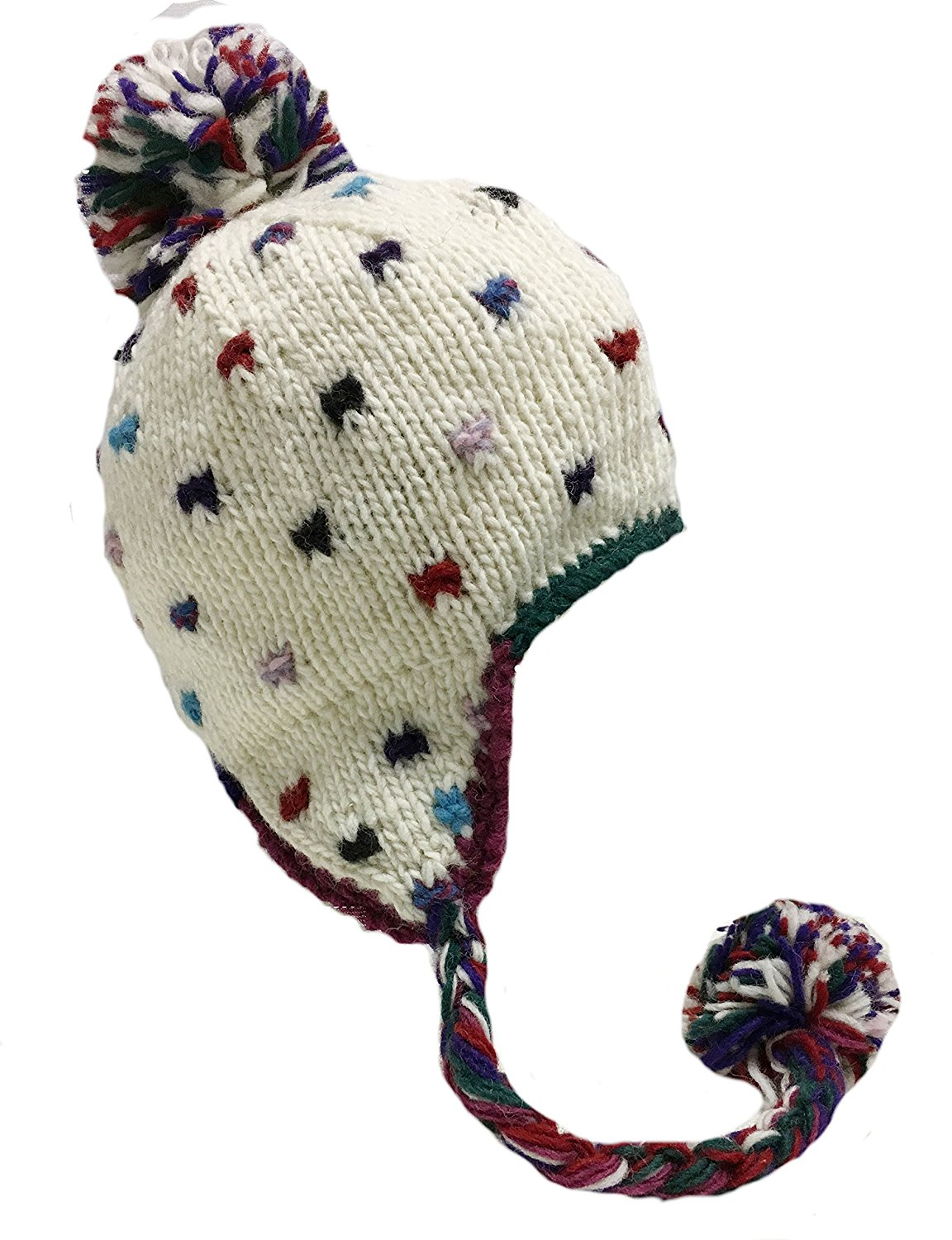 Nepal Hand Knit Sherpa Hat with Ear Flaps - fishingnew