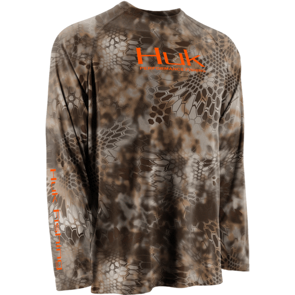Huk performance fishing men 39 s kryptek raglan long sleeve for Fishing jerseys for sale