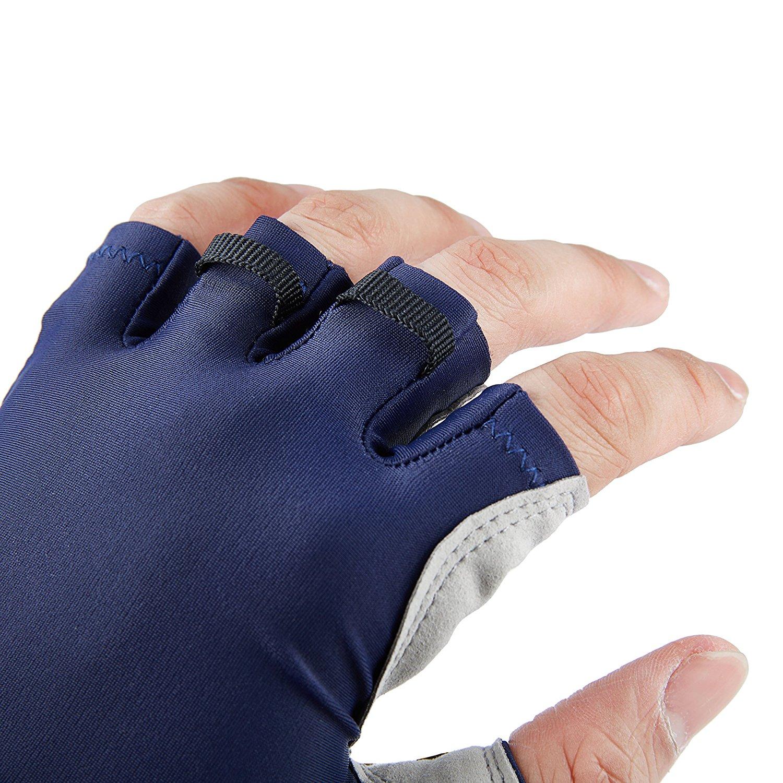 Sun protection fingerless gloves fishingnew for Fishing sun gloves