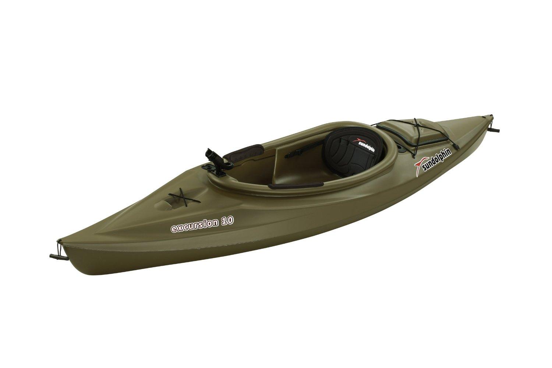 Sun Dolphin Excursion 10 Foot Sit In Fishing Kayak