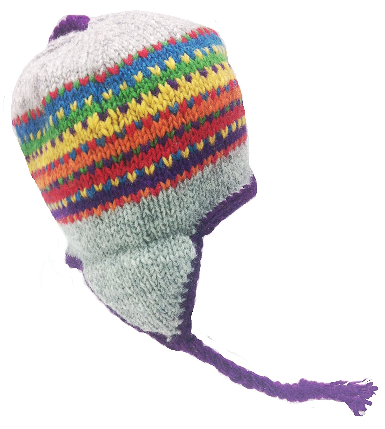 95aaf2a58553e Nepal Hand Knit Sherpa Hat with Ear Flaps – fishingnew