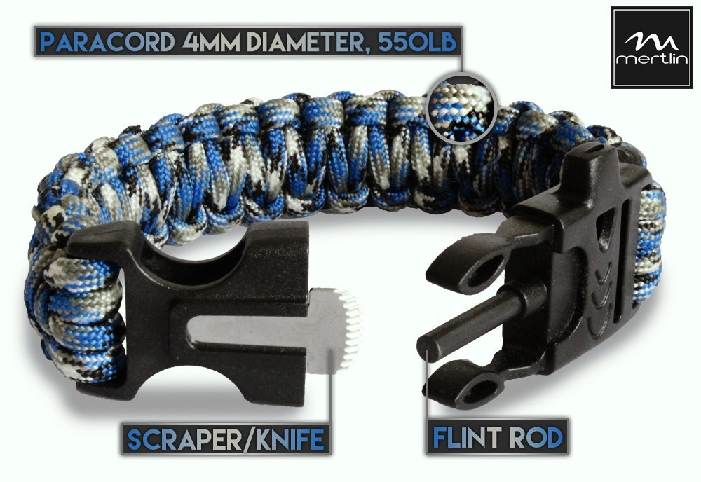 Paracord Survival Bracelet With Fire Starter